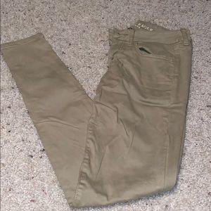 Khaki American eagle pants